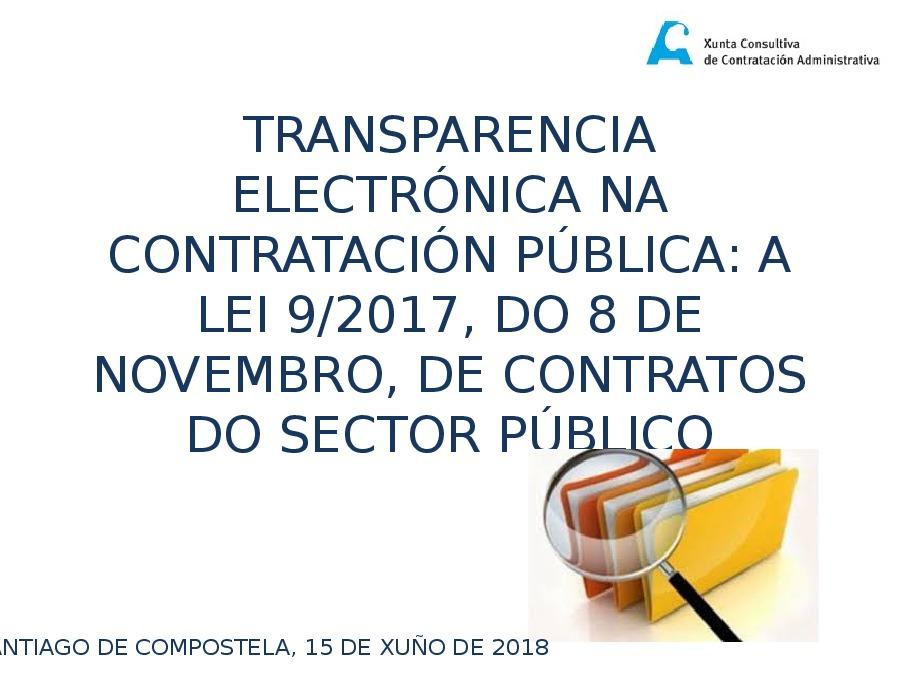 Transparencia e bo goberno. O novo perfil do contratante: ámbito autonómico
